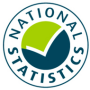 National Statistics logo showing that these statistics meet the highest standards of trustworthiness, quality and public value.